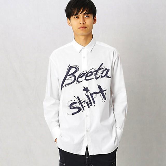 【SALE(三越)】<β MEN> イージーケアプリントシャツ(2727II02) シロ【三越・伊勢丹/公式】