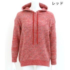 ニット・セーター - ANAP ●ミックスニットフーディトップス
