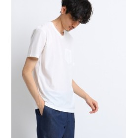 TAKEO KIKUCHI / タケオキクチ ◆[TALL&LARGEサイズ]ミニヘリンボンTシャツ [吸汗速乾 ]