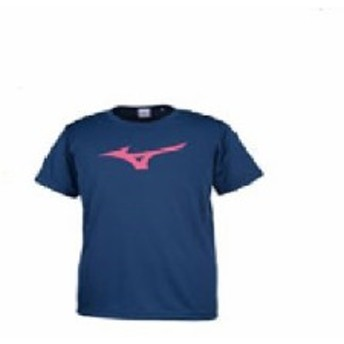 ミズノ ビッグロゴTシャツ ネイビー Sサイズ 32JA815514-S