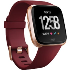 Fitbit フィットビット スマートウォッチ Versa Ruby Band / Rose Gold Aluminum L/Sサイズ FB505RGRD-EU ルビー/ローズゴールドアルミニウム