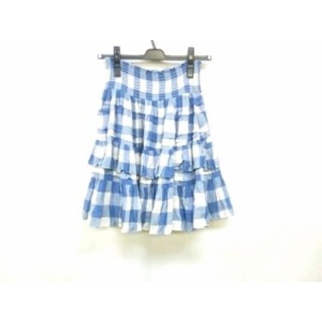 819964f7843ee ポロラルフローレン POLObyRalphLauren スカート サイズ0150 68A レディース ブルー×白 チェック柄