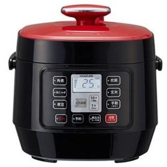 コイズミ マイコン電気圧力鍋 レッド KOIZUMI KSC-3501-R 返品種別A