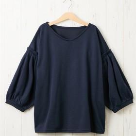 袖タックボリュームポンチトップス (Tシャツ・カットソー)(レディース)