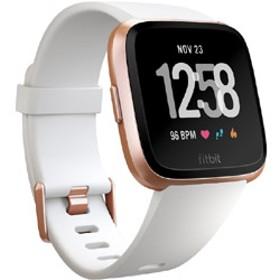 Fitbit フィットビット スマートウォッチ Versa White Band / Rose Gold Alumium L/Sサイズ FB505RGWT-EU ホワイト/ローズゴールドアルミニウム