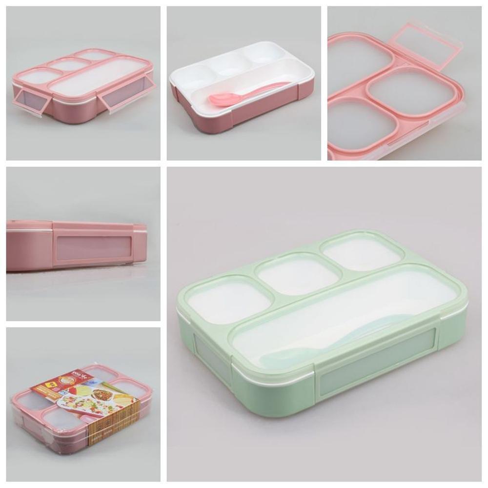 Lunch Box Yooyee 4 Sekat Anti Bocor Kotak Makan Bento Grid Leak Proof yooyee 578 Tempat Makan Murah