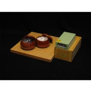 【セット商品】【直送便】新榧1寸卓上碁盤・ガラス碁石竹セットGB-S104・GI-G090・GK-M060