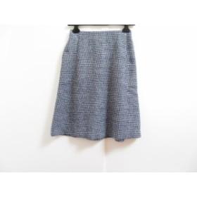 マルティニーク martinique スカート サイズ1 S レディース 美品 ダークネイビー×黒×白【中古】