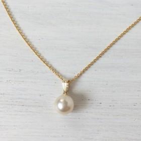 k14gf☆ひとつぶ・あこや真珠ネックレス 7.5~8.0mm