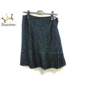 バーバリーブルーレーベル Burberry Blue Label 巻きスカート サイズ38 M レディース 黒       スペシャル特価 20191011