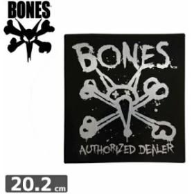 ボーンズ BONES スケボー ステッカー AUTHORIZED 20.2cm x 18.5cm NO43