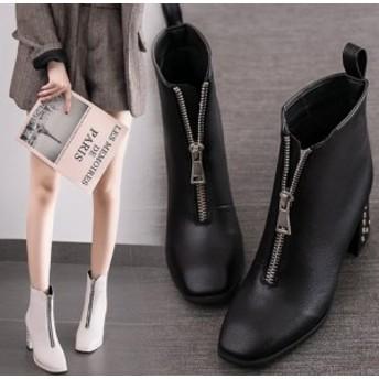 イギリス風ブーツ 秋冬物 ショートブーツ レディースブーツ 靴 シューズ ローヒール カジュアルブーツ 厚底 美脚 疲れにくい 暖かい