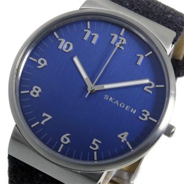 83e19e4b5c スカーゲン メンズ 腕時計/SKAGEN アンカー ANCHER レザー 腕時計 ネイビー