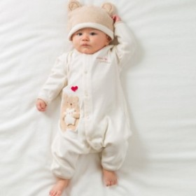 Amorosa mamma 天使の糸 ママだっこ カバーオール AH116(出産祝い 男の子 女の子 服)【S】