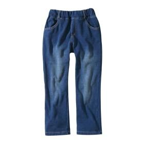 あったか裏シャギー 加工がおしゃれなニットデニムパンツ(女の子。男の子 子供服。ジュニア服) パンツ