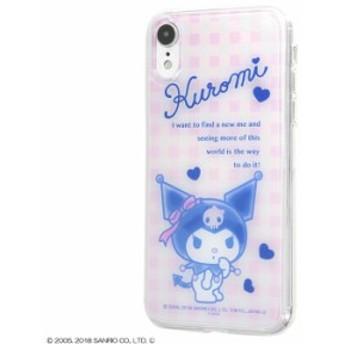 iPhone XR ケース クロミちゃん グッズ サンリオ TPUケース+背面パネル クロミ /ギンガムチェック iphonexr カバー