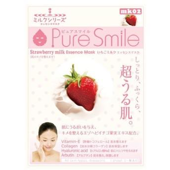 Pure Smile(ピュアスマイル)/いちごミルクエッセンス フェイス用シートパック・マスク