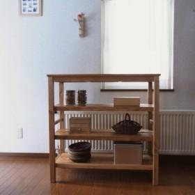 .73オーブンレンジ kichen shelf 900 / お掃除ロボ用隙間120高 (d.wt)
