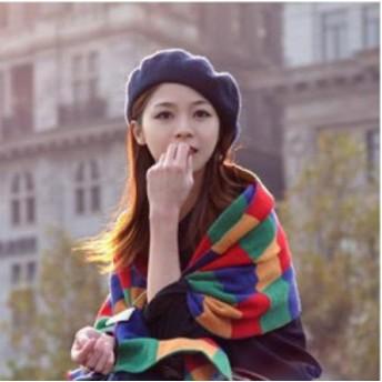 ベレー帽 帽子 ベーシック チョボ付き ウール 黒