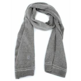 ドンダップ スカーフ メンズ【Dondup Embroidered Logo Alpaca Blend Warm Scarf】Grey