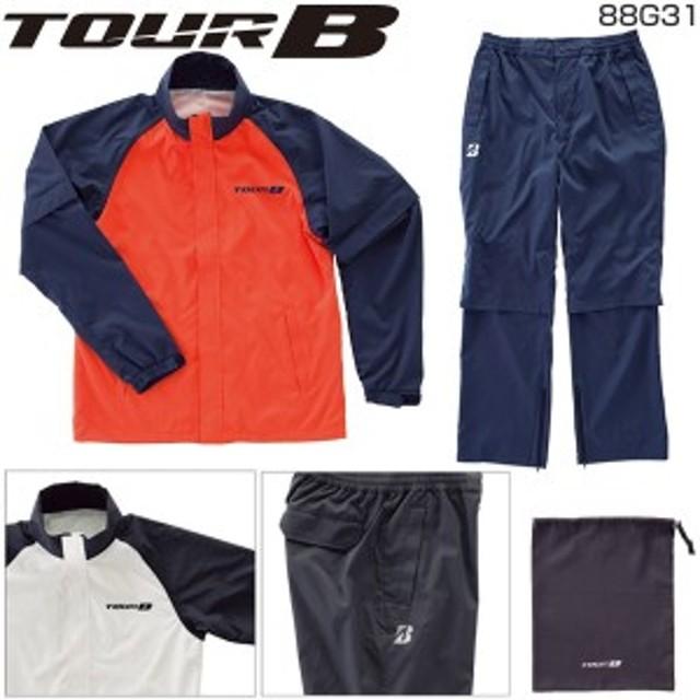 e11c1e9c19705 ブリヂストン ゴルフ ウェア TOUR B メンズ レインウェア 上下セット 88G31