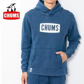 CHUMS チャムス CHUMS Logo Pull Over Parka Indigo チャムスロゴプルオーバーパーカー インディゴ CH00-1153 【アウトドア/長袖/メンズ/トップス/フード】