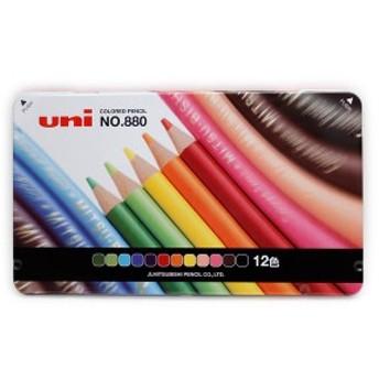 三菱鉛筆 色鉛筆 色鉛筆12色セットNO880-12C