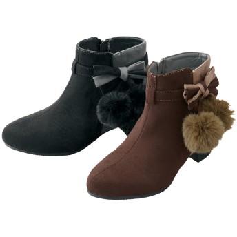 【格安-子供用靴】ジュニア大きめサイドアクセ付ブーツ