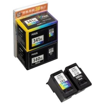 キヤノン インクカートリッジマルチパック+用紙セット BC-341XL+340XL2MPL30A [BC341XL340XL2MPL30A]