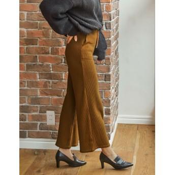 パンツ・ズボン全般 - Re: EDIT 大きめポケットがアクセントになったリラックス感あふれるセミワイドパンツ。 セミワイドワッフルベイカーパンツボトムス/パンツ/フルレングス 秋冬 新作