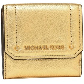 【HOT PRICE】マイケルコース 財布 アウトレット MICHAEL KORS 35F8GYEF2M GOLD レディース 二つ折り財布 三つ折り財布 無地 金 夏フェス 海 ビーチ