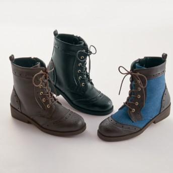 【格安-子供用靴】ジュニアアッパーハート型ウエスタン調ブーツ