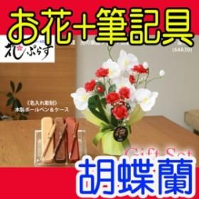 【 送料無料 名入れ 】花 ぷらす 《 木製ボールペン & ケースセット 》 ブライト胡蝶蘭 64A30-mokup