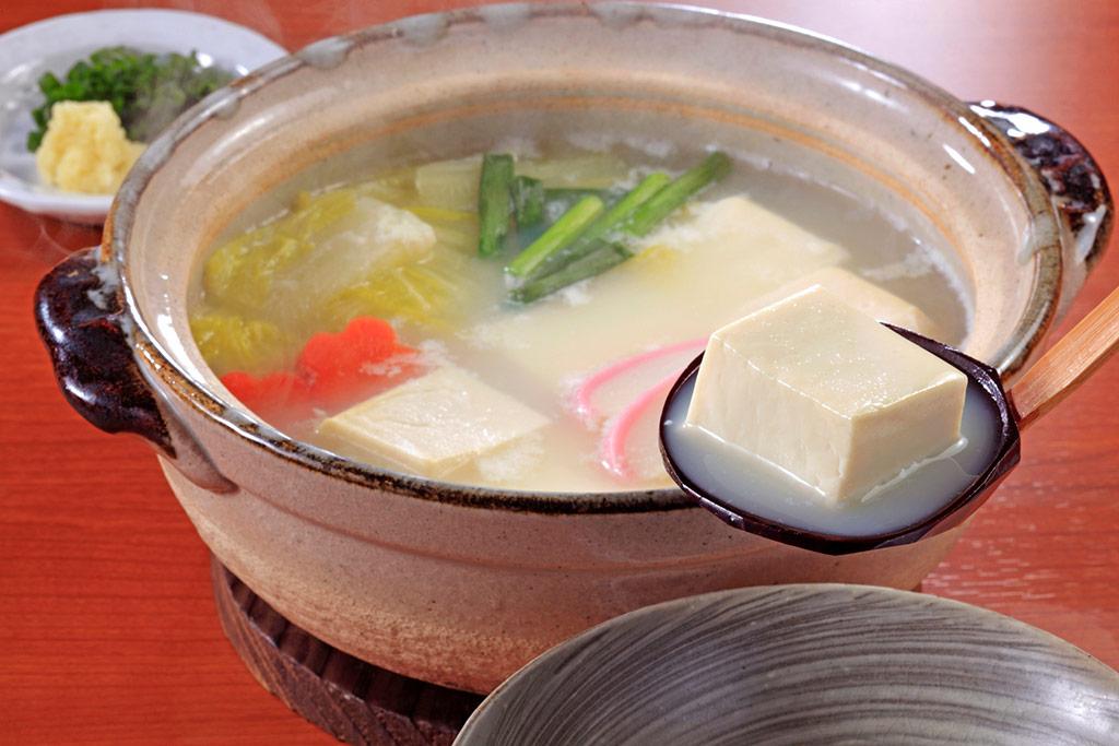 消化の良い食事のひとつ、湯豆腐