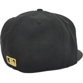 キャップ - stylise ニューエラ キャップ ◆ NEW ERA 59FIFTY アンダーバイザー ニューヨーク・ヤンキース ブラック × ゴールド NEWYORK 11308539 メンズ 帽子 ロゴ 刺繍[FS]