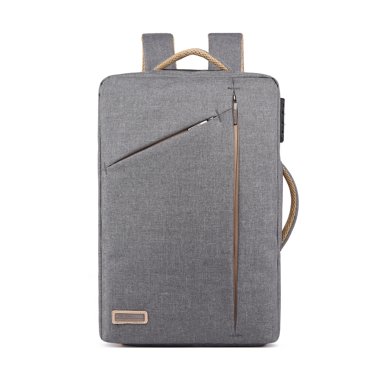 商務電腦手提雙肩包 灰色 2019最新韓款精品包 限量 背包 電腦包 公事包 商務包 雙肩背包 筆電包 休閒包 多功能