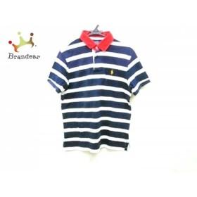 ポロラルフローレン 半袖ポロシャツ サイズL メンズ ネイビー×白×レッド ボーダー   スペシャル特価 20190626