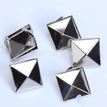 アルミ製 ピラミッド スタッド リベットスポット アクセサリー DIY バッグ ベルト 約100点
