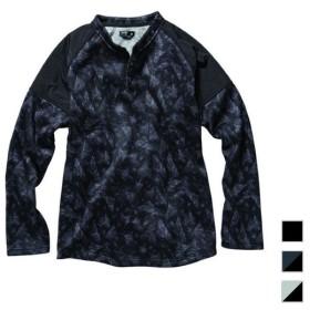 イグニオ メンズ ニットフリースヘンリーネックシャツ(長袖)(IG-9P15548CL) IGNIO