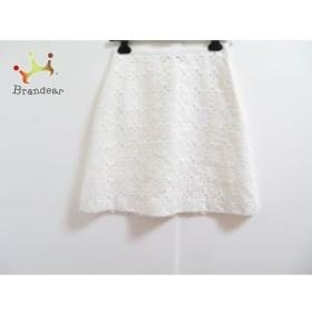 マルティニーク martinique スカート サイズ2 M レディース 美品 アイボリー 刺繍/フラワー     スペシャル特価 20190608【人気】
