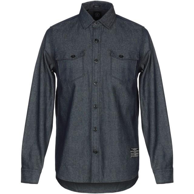 《9/20まで! 限定セール開催中》VOLCOM メンズ デニムシャツ ブルー M コットン 100%