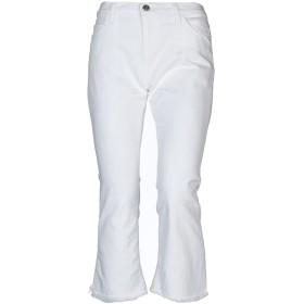 《セール開催中》CURRENT/ELLIOTT レディース デニムカプリパンツ ホワイト 28 コットン 98% / ポリウレタン 2%