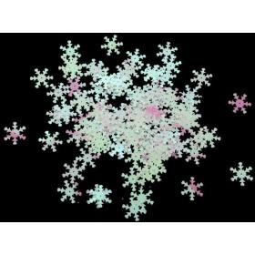 約100個 スパンコール DIY材料 服/バッグ 装飾 工芸 アクセサリー 子供たち手作り 能力 創造性 開発 3色選べ - 雪の花