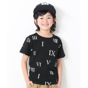 デビロック 総柄プリント半袖Tシャツ カットソー ユニセックス その他系1 120 【devirock】
