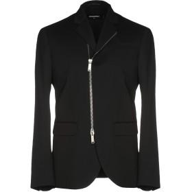 《期間限定セール開催中!》DSQUARED2 メンズ テーラードジャケット ブラック 52 バージンウール 98% / ポリウレタン 2%