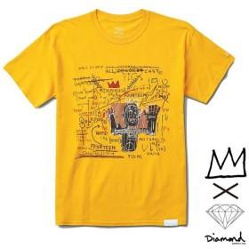 【DIAMOND SUPPLY/ダイヤモンドサプライ X BASQUIAT/バスキア】CAST TEE Tシャツ / GOLD