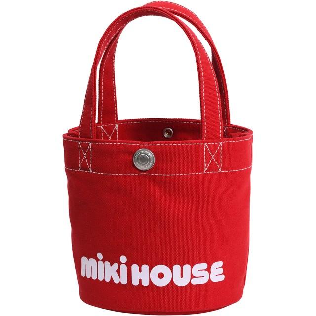 ミキハウス バケツ型 ミニロゴトートバッグ 赤