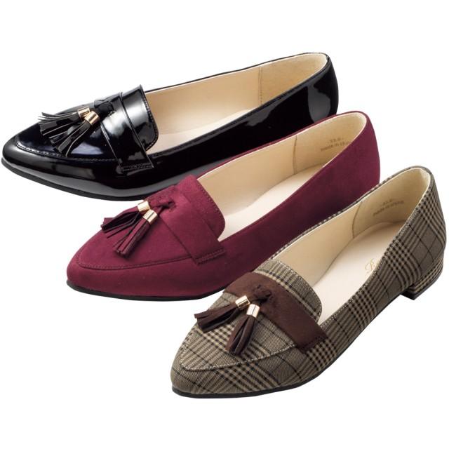 【格安-女性靴】レディースタッセル付ポインテッドトゥパンプス