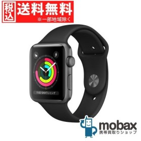 キャンペーン◆【新品未開封品(未使用)】Apple Watch Series 3 GPSモデル 42mm MTF32J/A スペースグレイアルミニウム [ブラックスポーツバンド]
