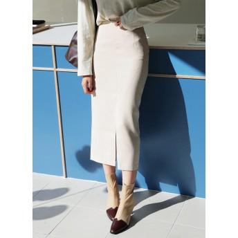 ○雑誌掲載商品○スリットHラインロングスカート・全4色・t50584